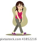 Sleepy Woman Walking 43852216