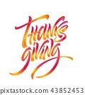 illustration, thank, letter 43852453