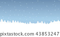 winte snow background with firs landscape 43853247