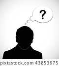 old man silhouette human head with question mark alzheimer disease dementia 43853975