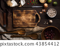 Thai food cooking ingredients on wooden background 43854412