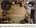 Thai food cooking ingredients on wooden background 43854423