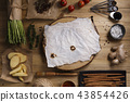 Thai food cooking ingredients on wooden background 43854426