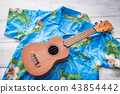 ulkulele and hawaiian shirts 43854442