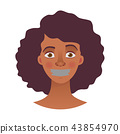 脸部 脸 女人 43854970