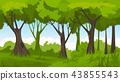 Summer forest. vector backround 43855543