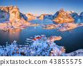 lofoten, village, mountain 43855575
