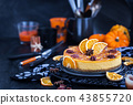 Delicious pumpkin and orange cheesecake  43855720