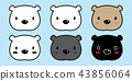 vector, polar, bear 43856064