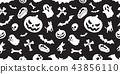 Halloween seamless pattern spooky vector pumpkin 43856110