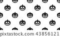 pumpkin seamless pattern Halloween vector ghost 43856121