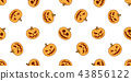 pumpkin seamless pattern Halloween vector ghost 43856122