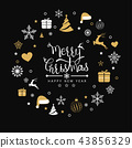 Merry Christmas background with element icons 43856329