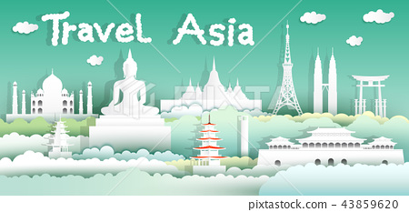 Landmark of asia world for tourism asean. 43859620
