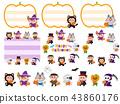 萬聖節服裝矩陣框架線集 43860176