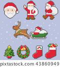 針織_粗紗_聖誕邊框_綠灰_透明 43860949