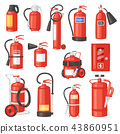 Fire extinguisher vector fire-extinguisher for safety and protection to extinguish fire illustration 43860951