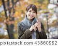 여성, 여자, 스마트폰 43860992