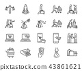 Shopping icon set 43861621