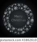 Wreath Snowflakes. New Year or Christmas Frame. 43862610