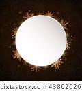 White Circle Snowflakes. New Year Christmas Frame. 43862626