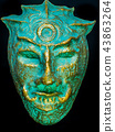 Antique masks are made from recycled materials use 43863264