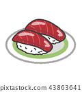 sushi, tuna, japanese 43863641