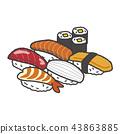 อาหารญี่ปุ่น,ซูชิ,น่ารัก 43863885