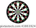Top view of Target dart board.  43863924