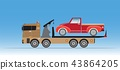 Slide on tow truck for emergency 43864205