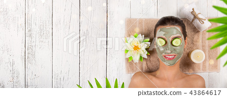 Young healthy woman with face mask. 43864617
