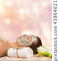 Young healthy woman with face mask. 43864621