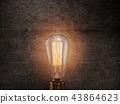 Vintage Edison light bulb on dark background. 43864623