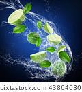 background, lime, splash 43864680