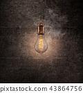 Vintage light bulb on dark background. 43864756