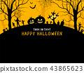 Halloween background design. 43865623