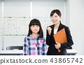針灸講師和一個女孩在小學 43865742