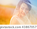 Young beautiful Asian bride  43867057