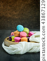 colorful of macarons 43867129