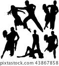 Latino Dance Silhouettes 43867858