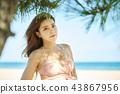 比基尼,年輕女子,美容,女性,女孩,戶外,海灘,夏天 43867956