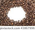 Coffee bean background. 43867996