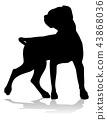 Dog Silhouette Pet Animal 43868036
