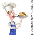 chef, kebab, shawarma 43868086