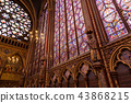 Stained glass windows inside the Sainte Chapelle a royal Medieval chapel in Paris, France 43868215