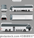 coach bus mockup 43868937