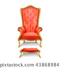 luxurious red throne in realistic style 43868984