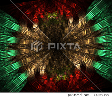 Glowing stargate in space, computer abstract 43869399