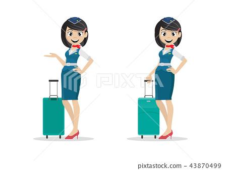 Girl air hostess. 43870499
