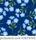 Nemophila Baby Blue Eyes Flower Indigo Background 43870763